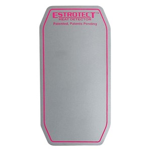 Silver with fuschia trim heat detector patch