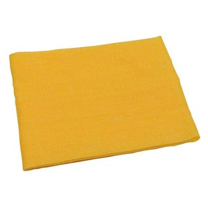 Yellow cloth for cleaning a cow hide to place heat detector patches on the cow