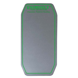 Silver with green trim heat detector patch